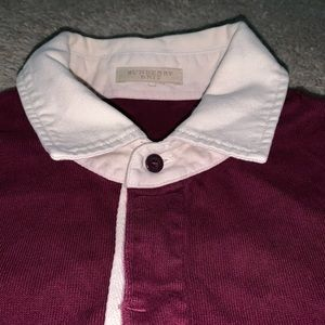 Burberry Long Sleeve Polo   LARGE ✨